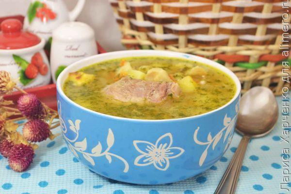 Суп из свинины с галушками