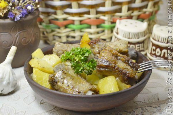 Свиные ребра тушеные с овощами рецепт