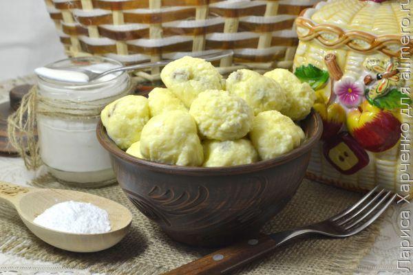 рецепт ленивых вареников из заварного крема