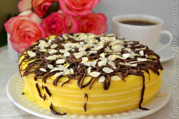 Простой рецепт торта с днем рождения