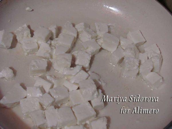 рис с зеленым горошком и сыром рецепт