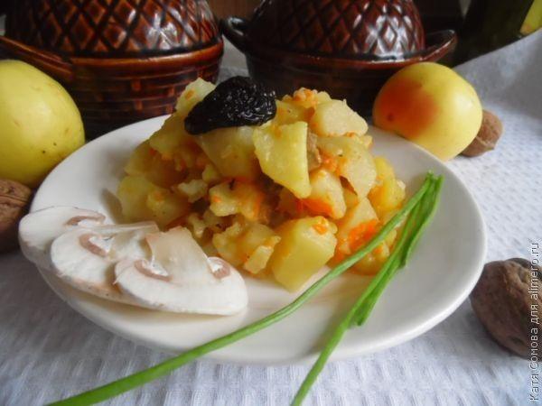 Картофель в горшочках