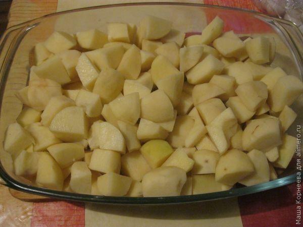 картофель с яйцом