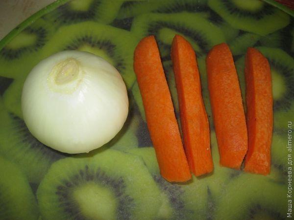 бульон с клецками