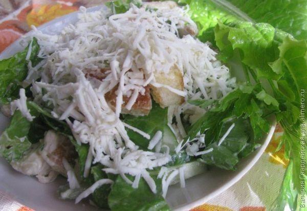 салат цезарь рецепт