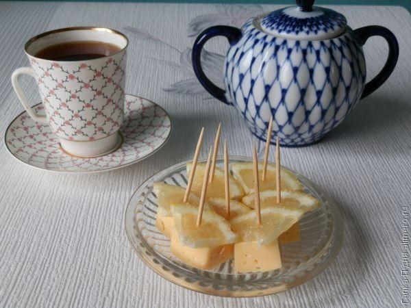 Оригинальная закуска из сыра с лимоном