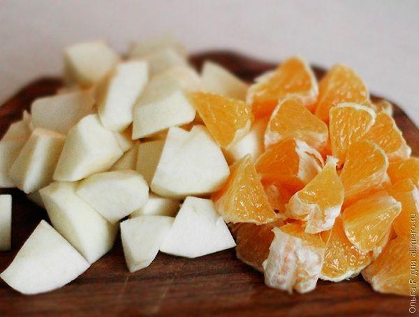 Смузи с яблоком и апельсином