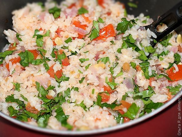Фаршированные рисом кальмары