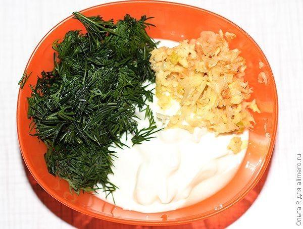 Салат с йогуртовой заправкой