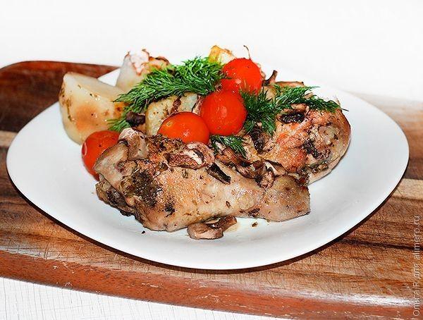 Курица с картошкой и орегано