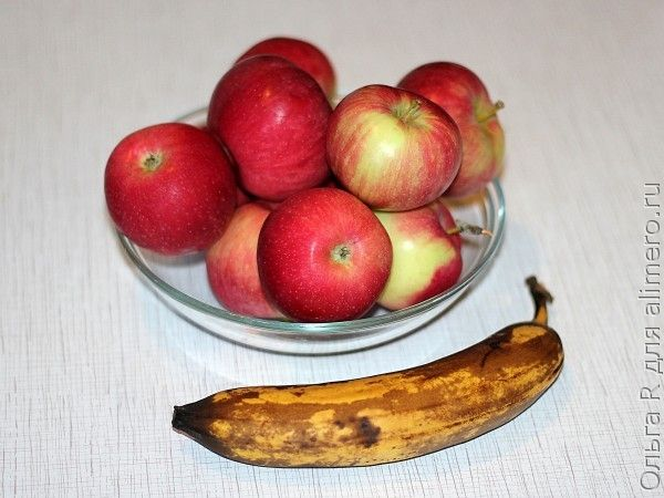 Яблоки и банан