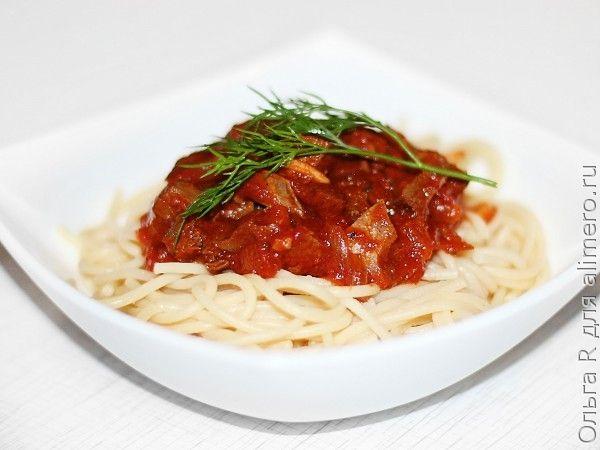 Спагетти с говяжьим сердцем