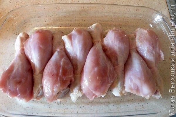 Куриные ножки в лимонно-чесночной  приправе