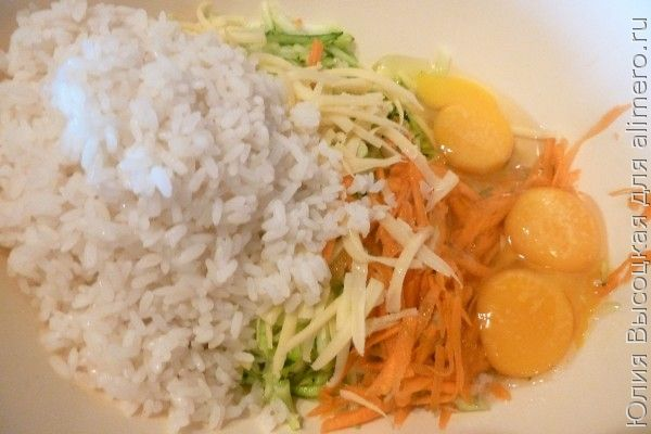 Запеканка из кабачков с рисом
