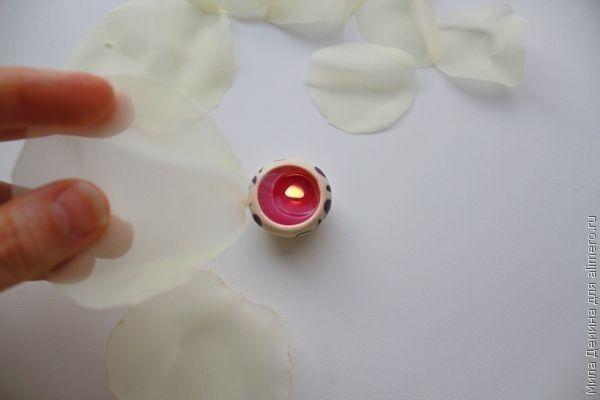 Цветы из вуали
