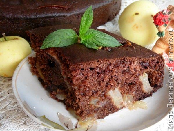 Шоколадная шарлотка