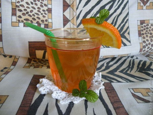 Апельсиновый чай с мятой