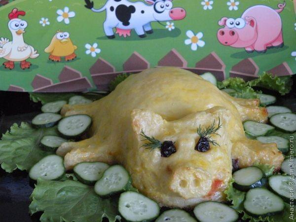 Поросёнок из картофельного пюре