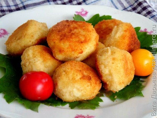 Сырно картофельные шарики рецепт с фото