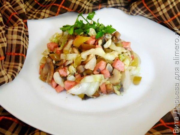 Рецепт солянки с капустой и колбасой