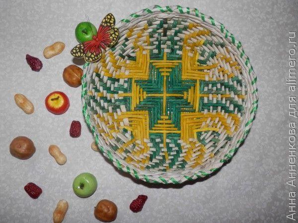 Декоративная тарелка с узором