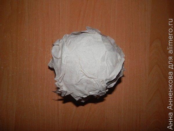 Топиарий с шариками из сизали