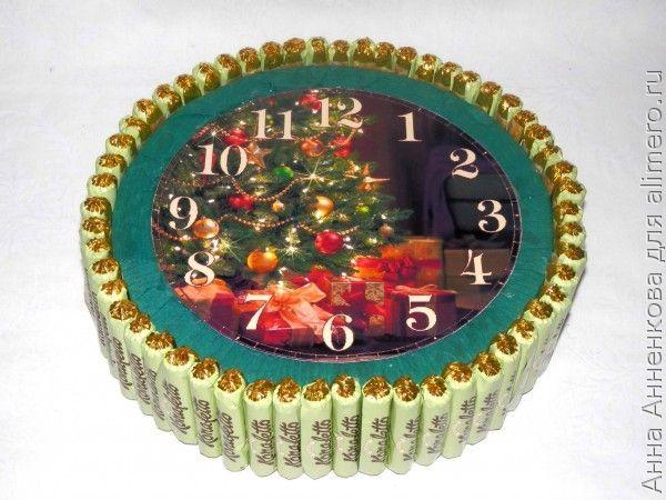 Новогодний будильник с конфетами