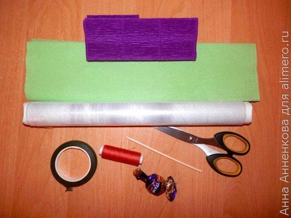 Как я делаю крокус из гофрированной бумаги