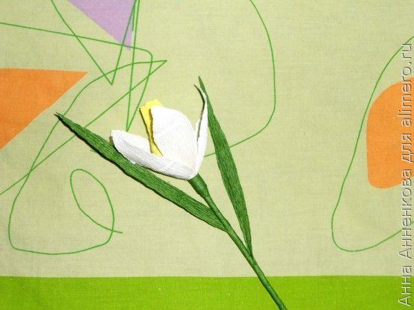 Нарцисс из гофробумаги