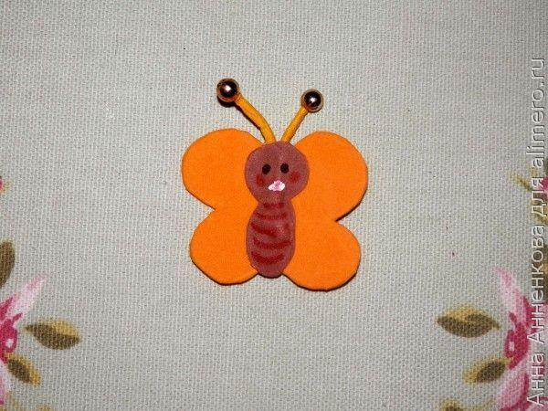 Брошь-бабочка из фоамирана