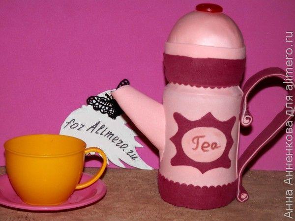 Декоративная баночка в виде чайника