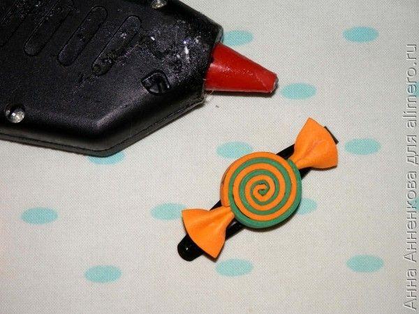 Заколки-конфетки из фоамирана
