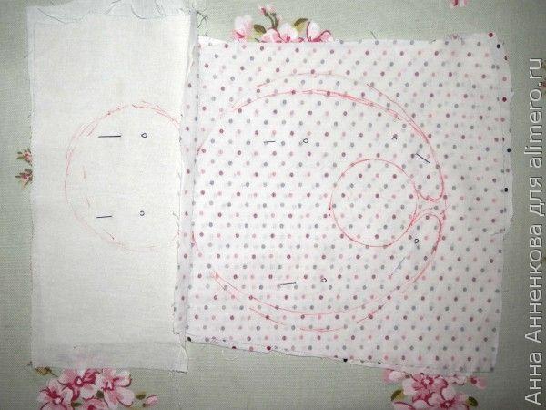 Мишка Соня из текстиля
