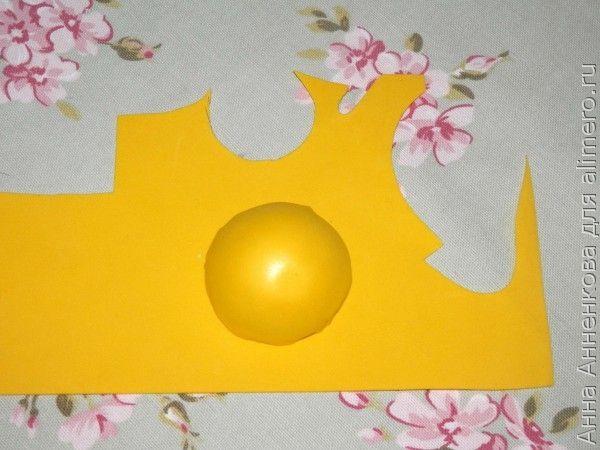 Магнит-солнышко из фоамирана