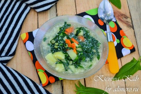 шпинатный суп
