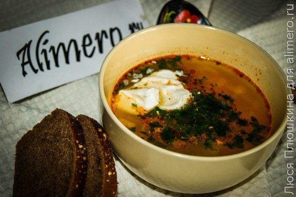 Суп из охотничьих колбасок