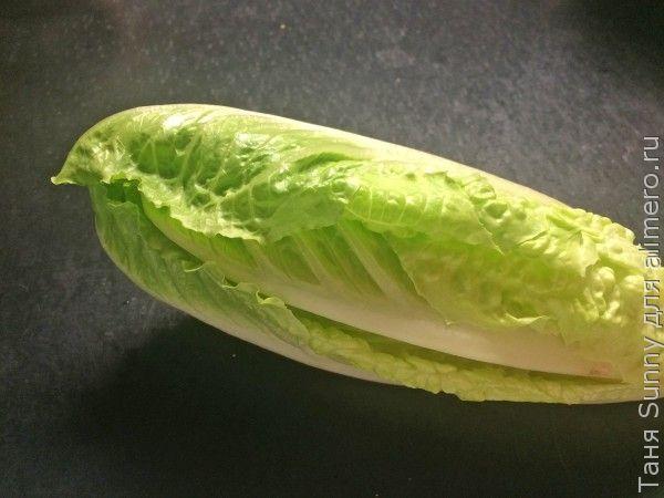 Зелёный салат с кукурузной крупой