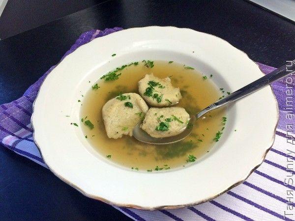 Суп из утки с гречневыми клёцками