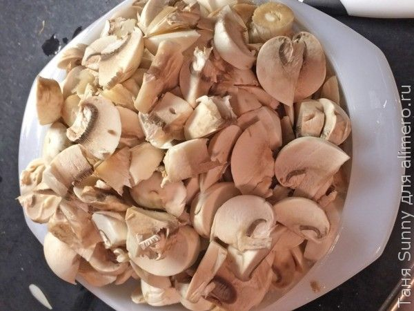 фьюжн - бутерброд с грибами терияки