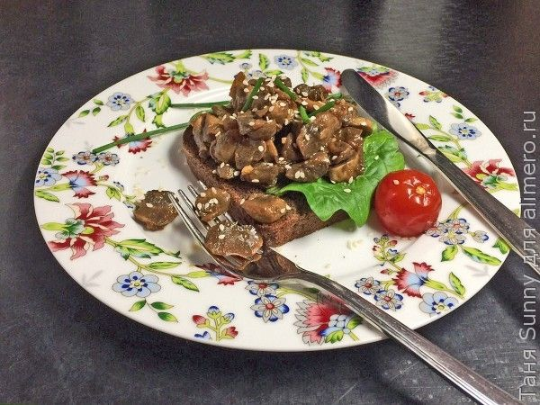 бутерброд с грибами терияки фьюжн