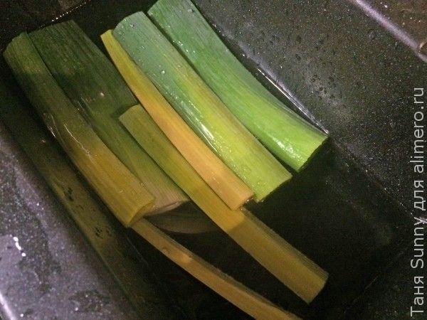 Суп-пюре из цветной капусты и лука-порея