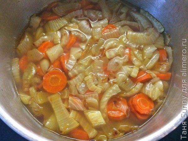 Суп-пюре из печёной моркови и овощей