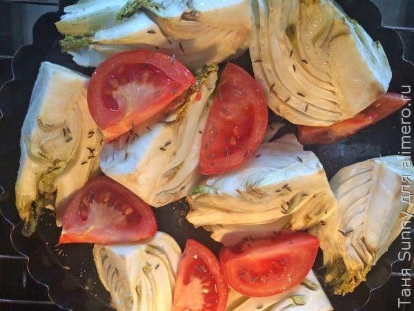 фенхель запеченный с помидорами