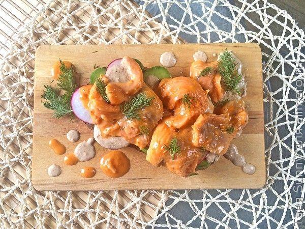 Севиче из лосося в облепиховом соусе