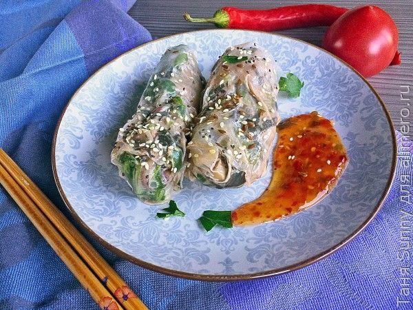 Рулет из лаваша с яйцом и грибами - рецепт с фото