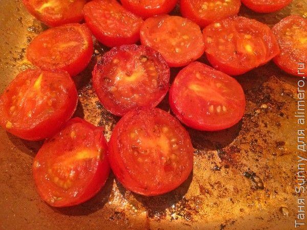 Ризотто томатное с телячьей вырезкой