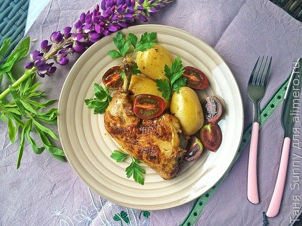 Жареные куриные окорочка по-грузински