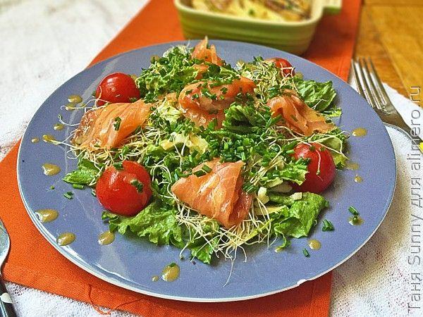 Салат на обед гравлакс
