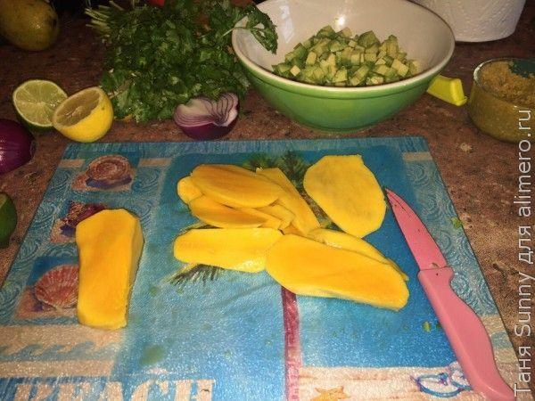 Соус сальса из манго