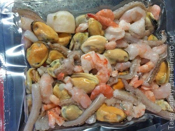 быстрая еда дома - фунчоза с морепродуктами